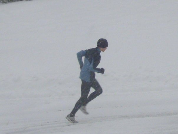 Mario Fraioli has been slogging through the snow drifts in preparation for his for his upcoming race against Kara Goucher.