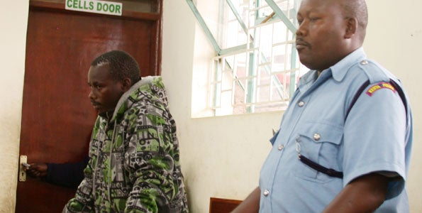 Sammy Wanjiru appears in court to hear the charges leveled against him. Photo: Daily Nation