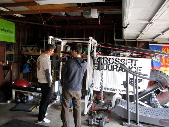 Brian MacKenzie in his Costa Mesa home gym.