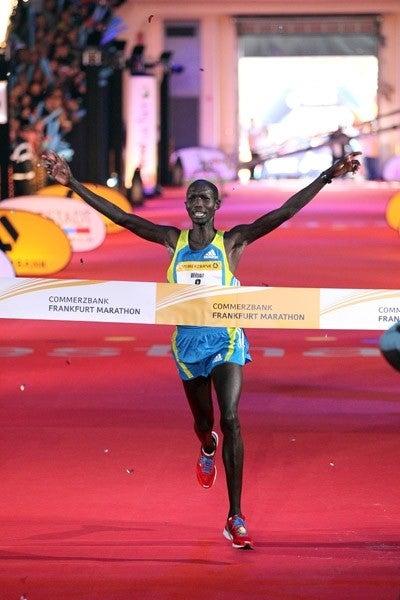 Wilson Kipsang hopes to break the tape at the Lake Biwa Marathon. Photo: IAAF