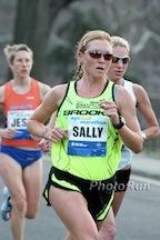 Sally Meyerhoff competing in the 2010 NYC Half-Marathon. Photo: PhotoRun.net