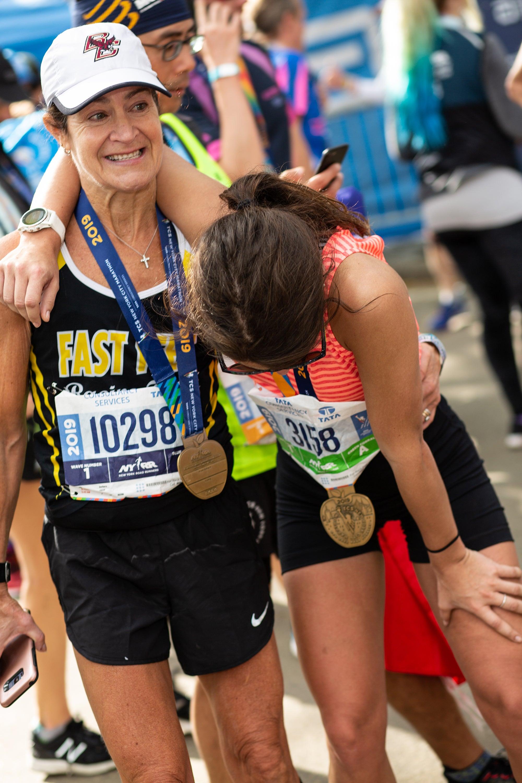 post marathon mother daughter
