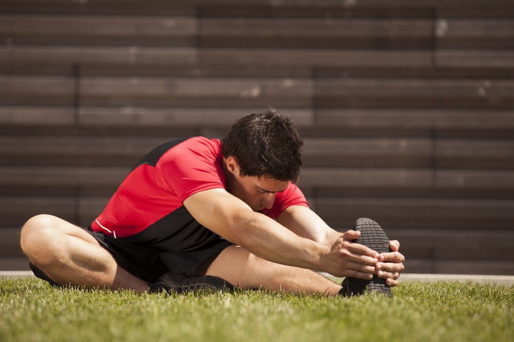 Stretching hamstrings