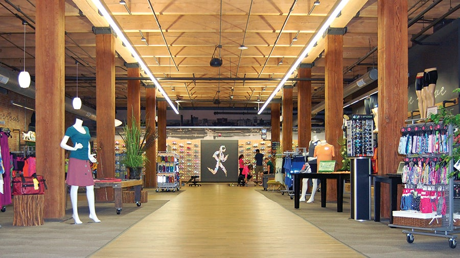 Running Central in Peoria, Ill., is one of the largest and most stunning running shops in the U.S. It is also one of the four finalists for the 2014 Running Store of the Year honor that will be awarded on Dec. 4. Photo: Running Insight