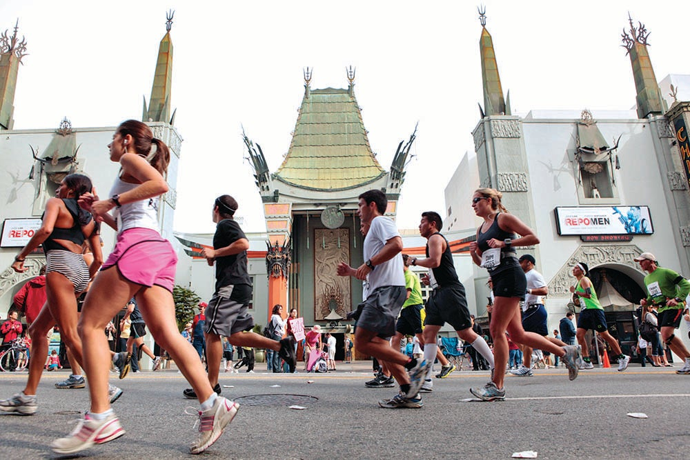 Grauman's Chinese Theater with runners.