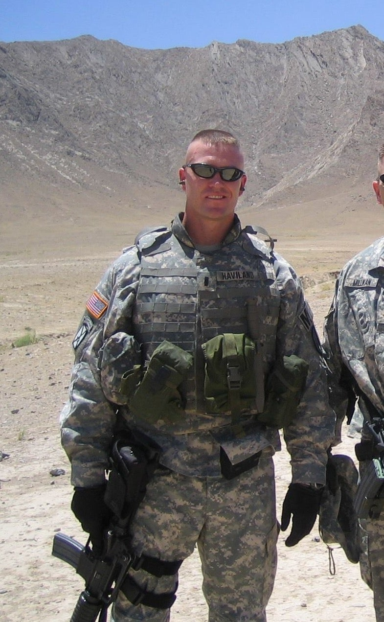 Matt Haviland during his time in the military.