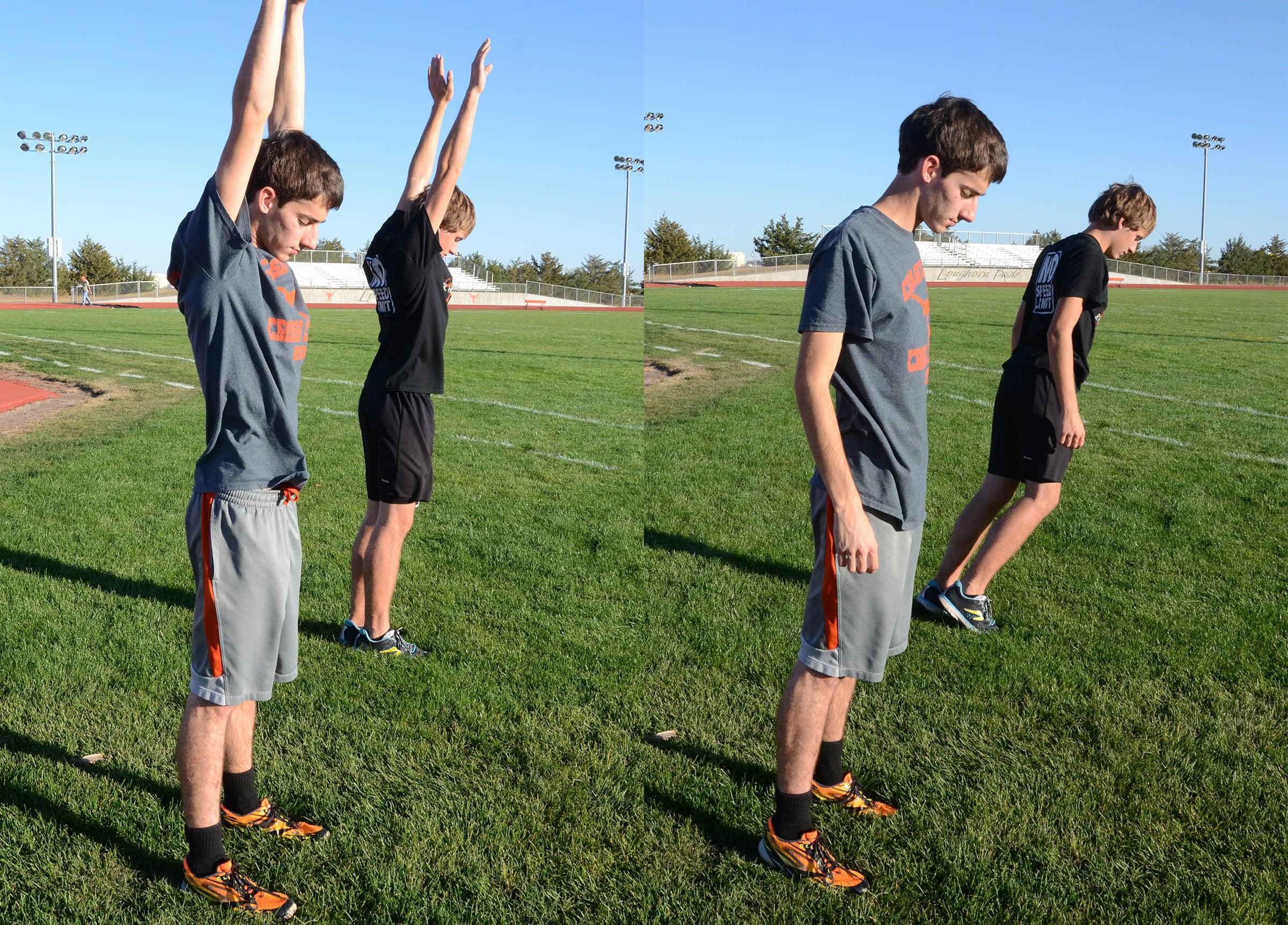 tall running posture drill