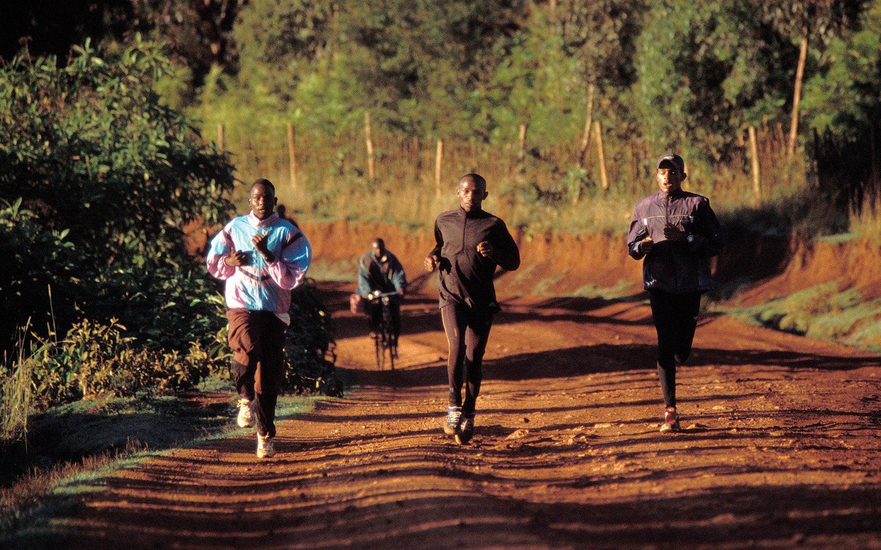 morning runners in Iten, Kenya