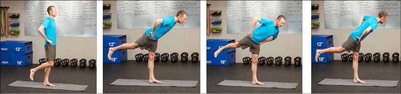tippy twist hip balance exercise