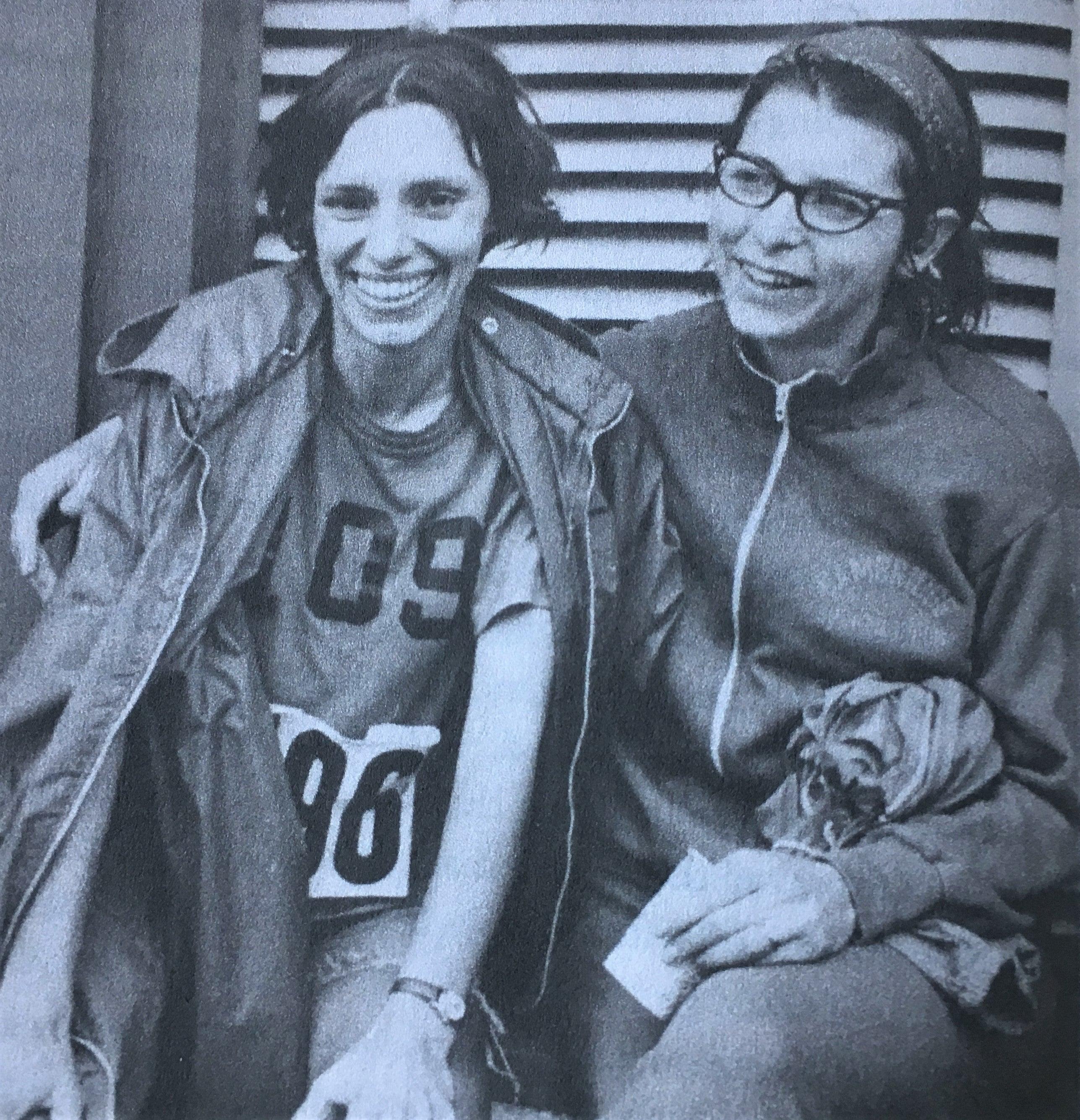 Nina Kuscsik and Sara Mae Berman post-Boston 1971.