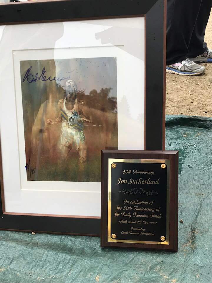 50th Plaque and Herb Elliott Painting