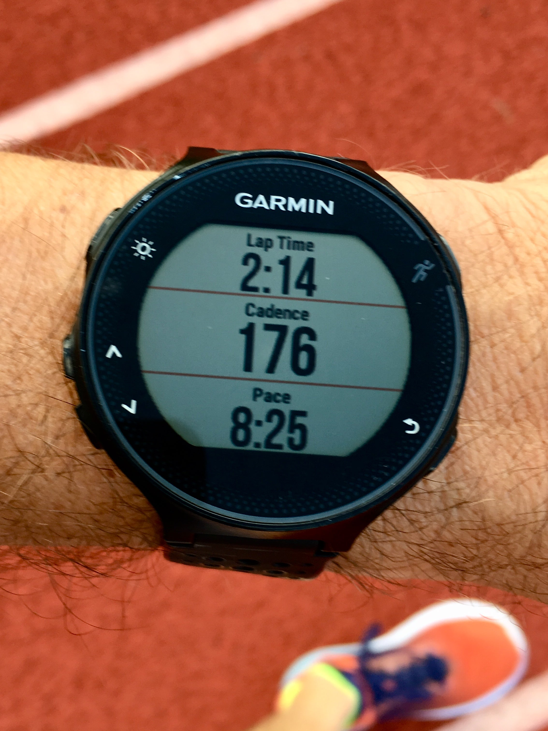 Garmin watch cadence and pace