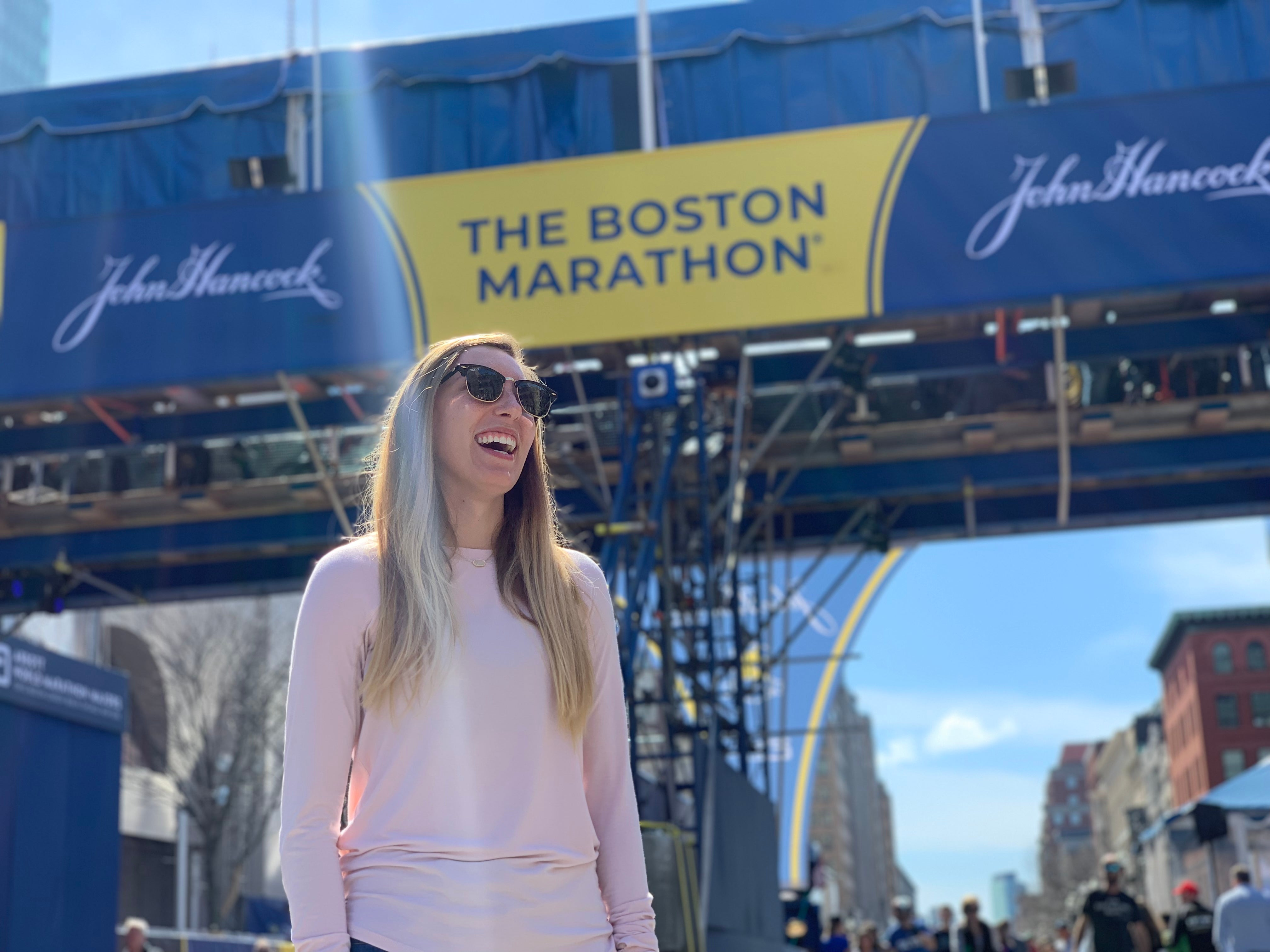 Heather Boston Marathon Finish Line