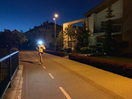 Pre-dawn run in Breclav, Czech Republic