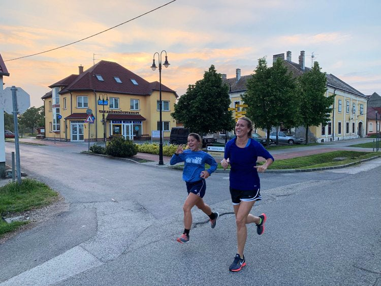 Dawn run in Rajka, Hungary