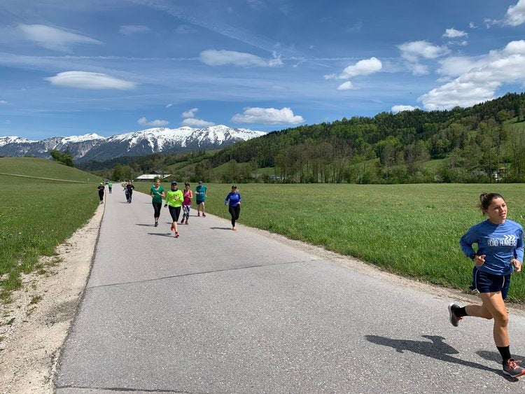 Running in the Alps, Pyhrn, Austria