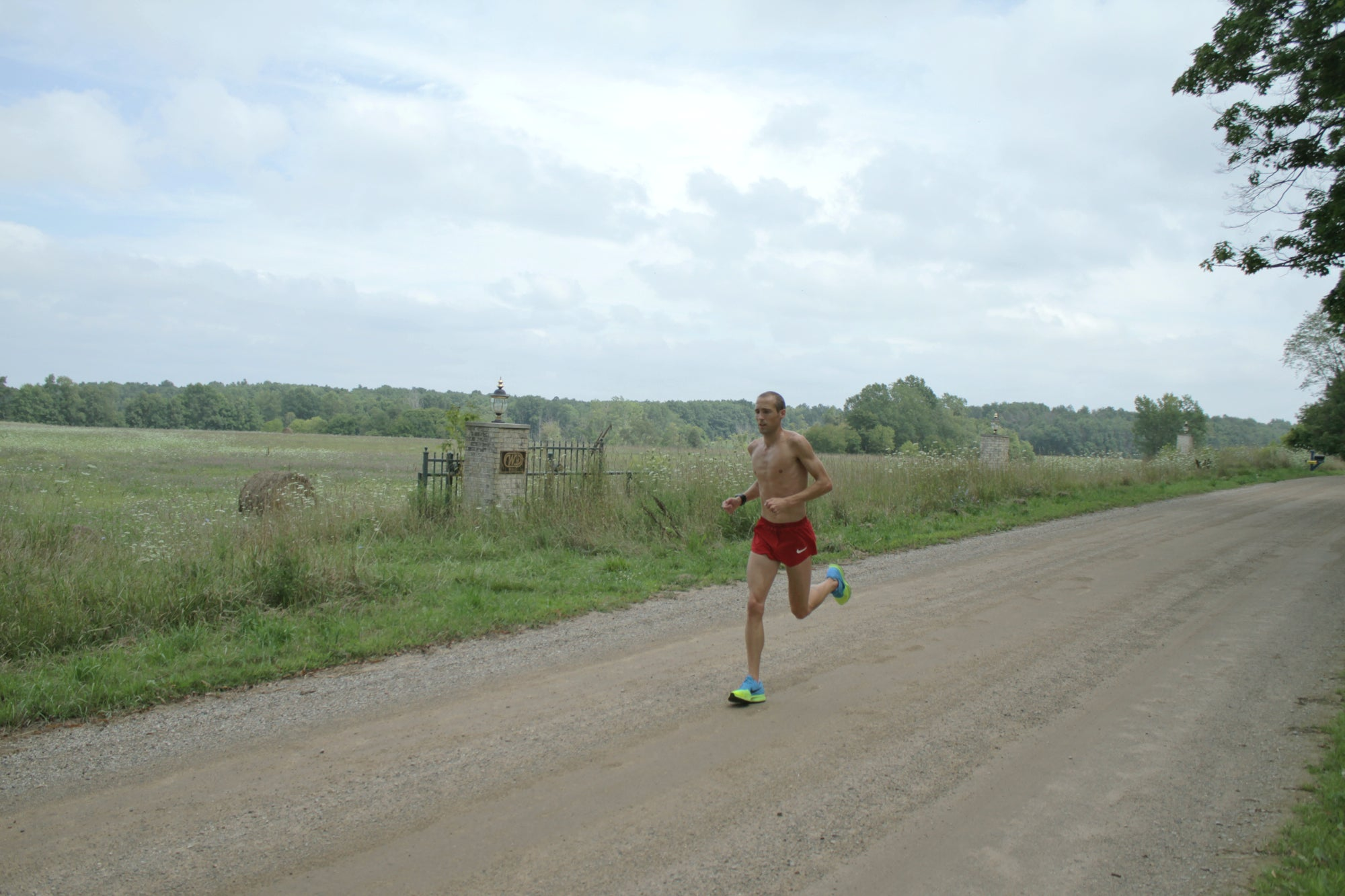 Dathan Ritzenhein training long in Michigan