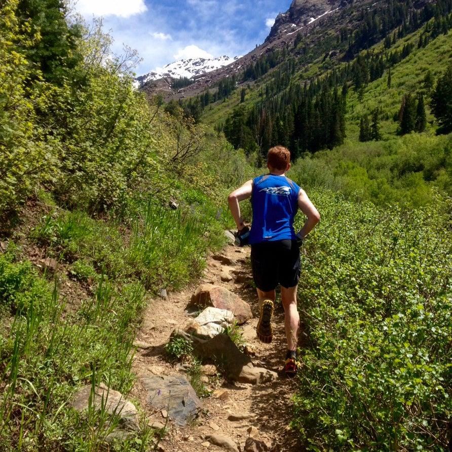 Golden Harper running trails in Utah