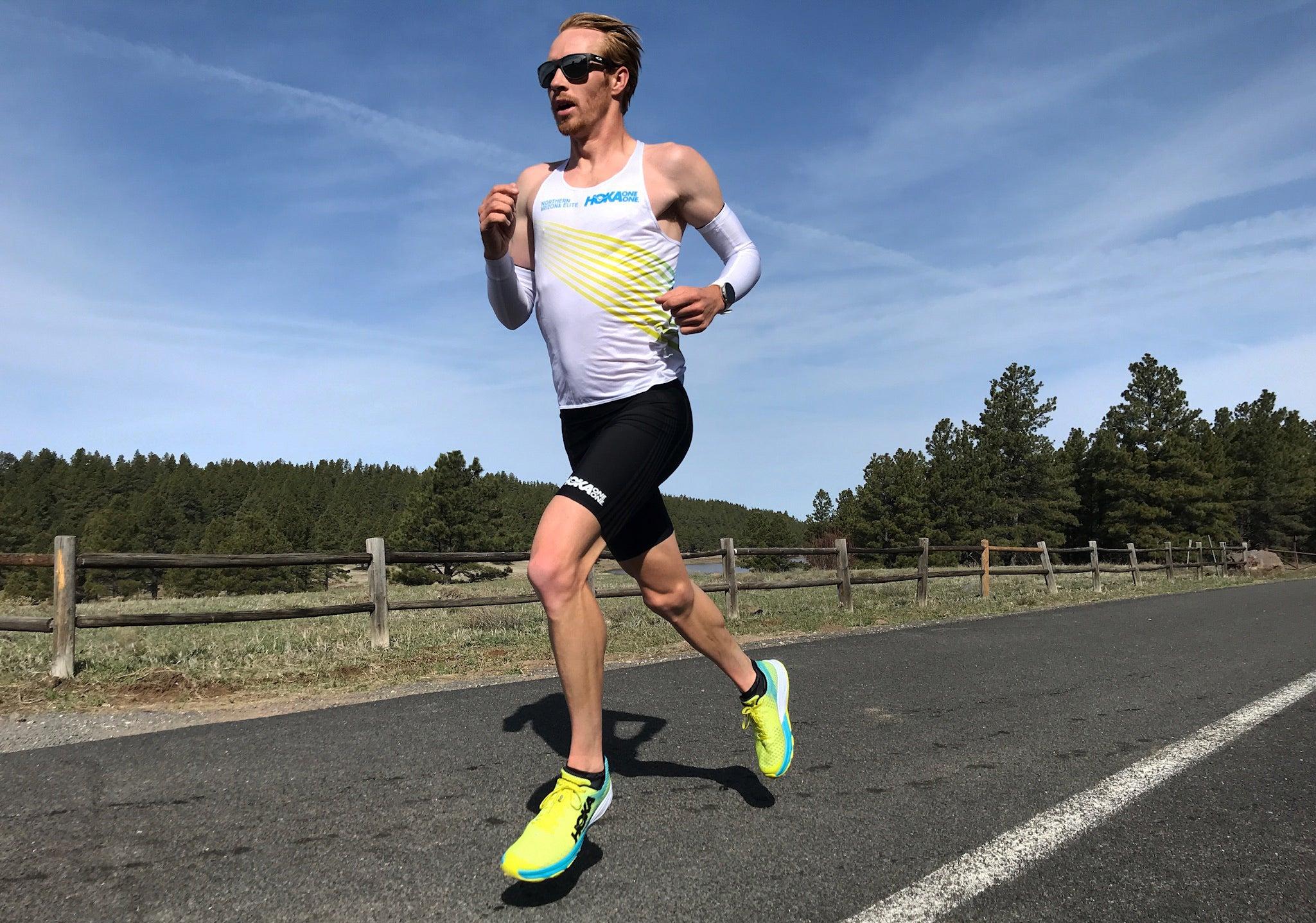Scott Fauble NAZ Elite training in Flagstaff