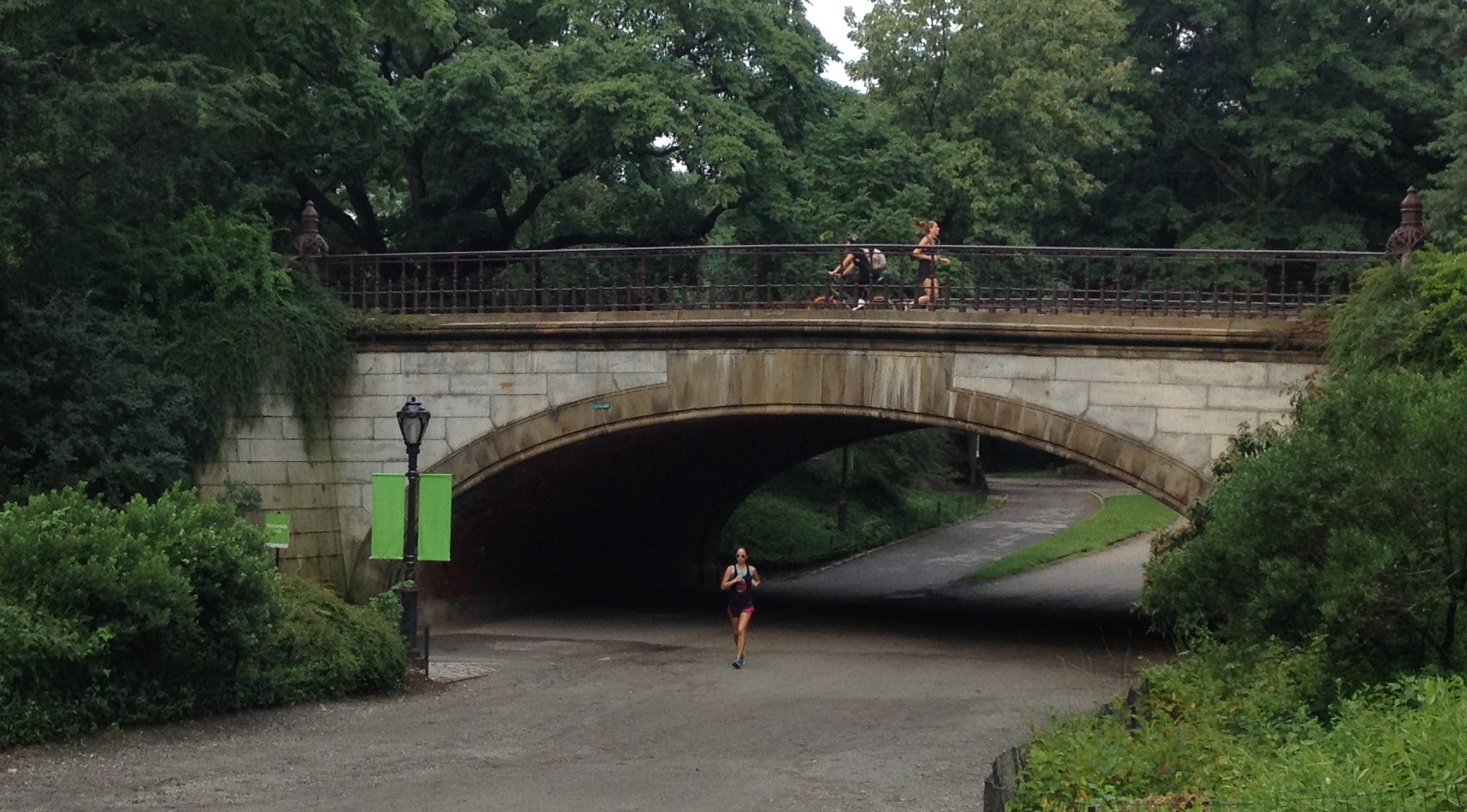 Running on Bridle Path, Central Park, New York