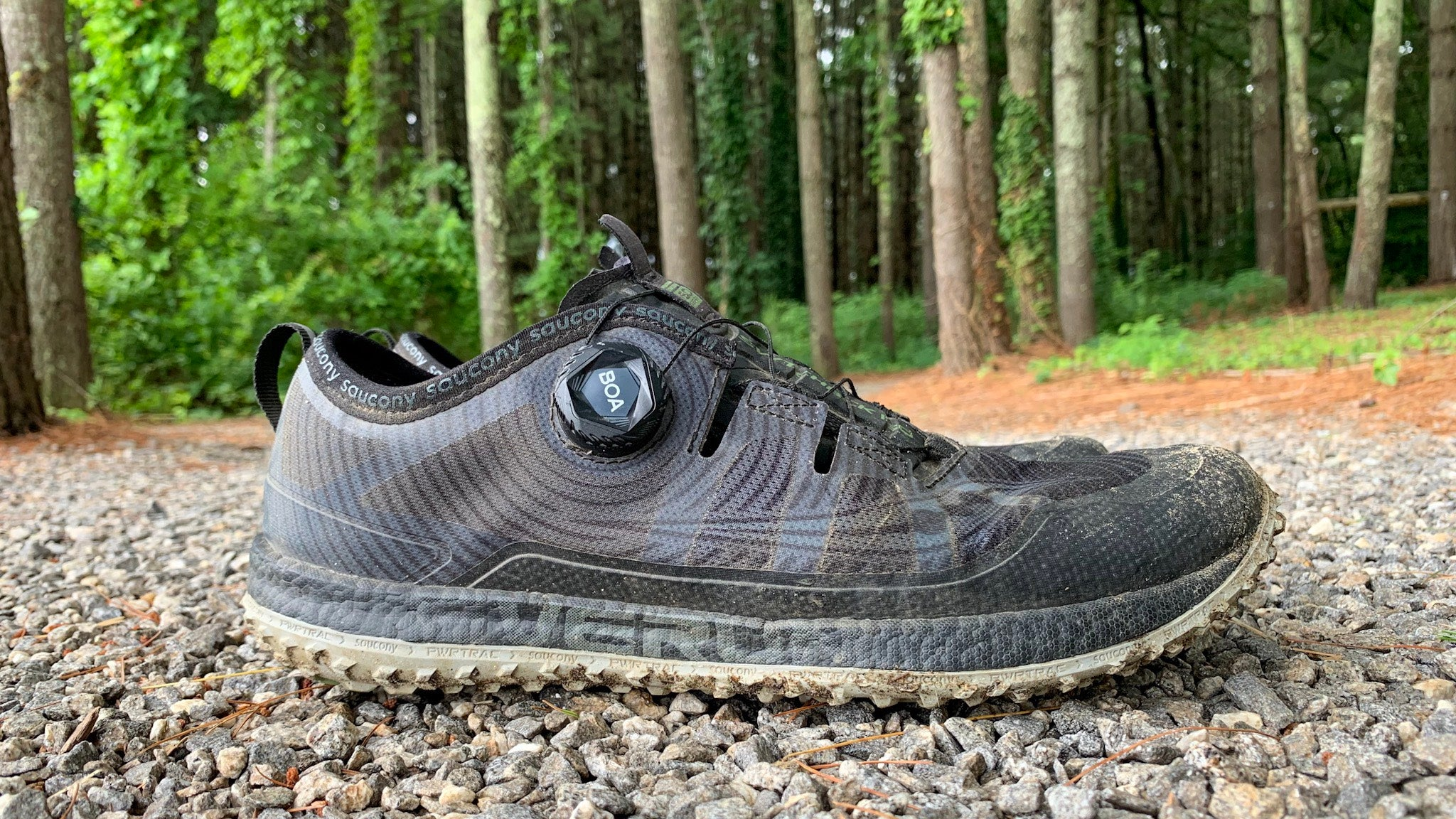 Saucony Switchback ISO trail shoe with Boa lacing