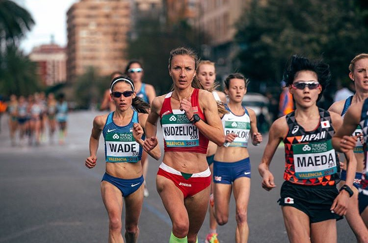 Becky Wade racing in Valencia Spain