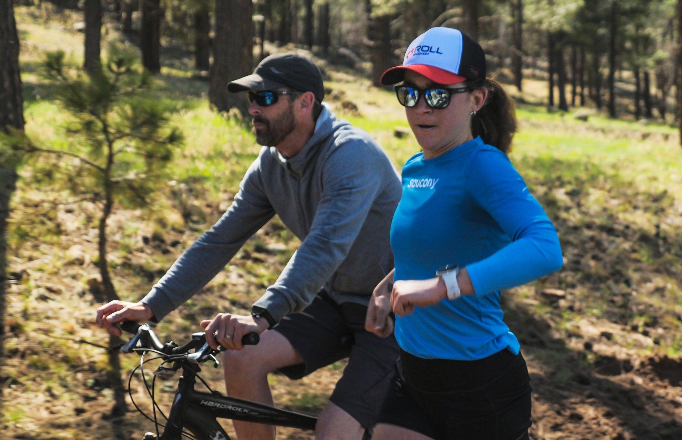 Tim Broe coaching on bike