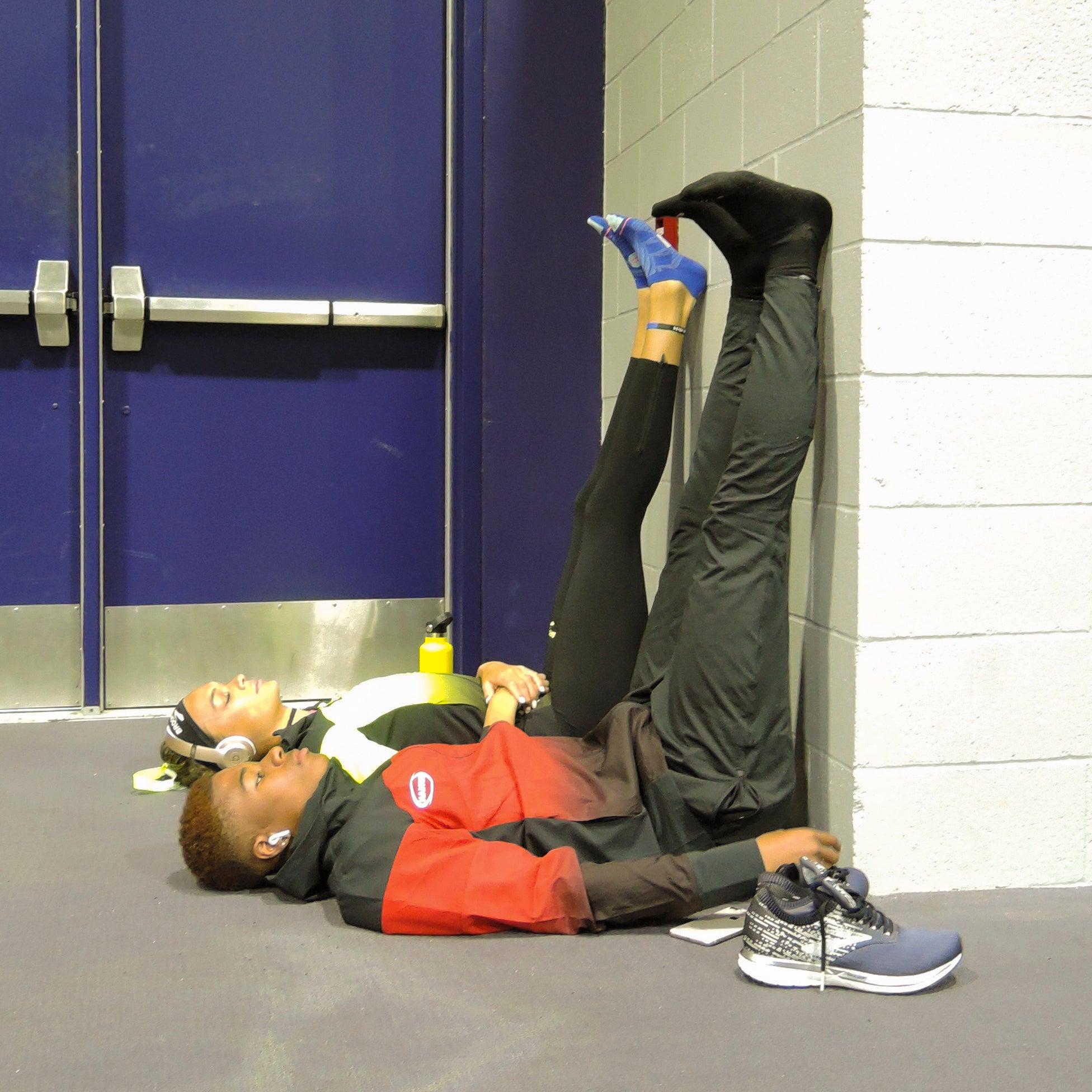 Resting pre-race Brooks PR