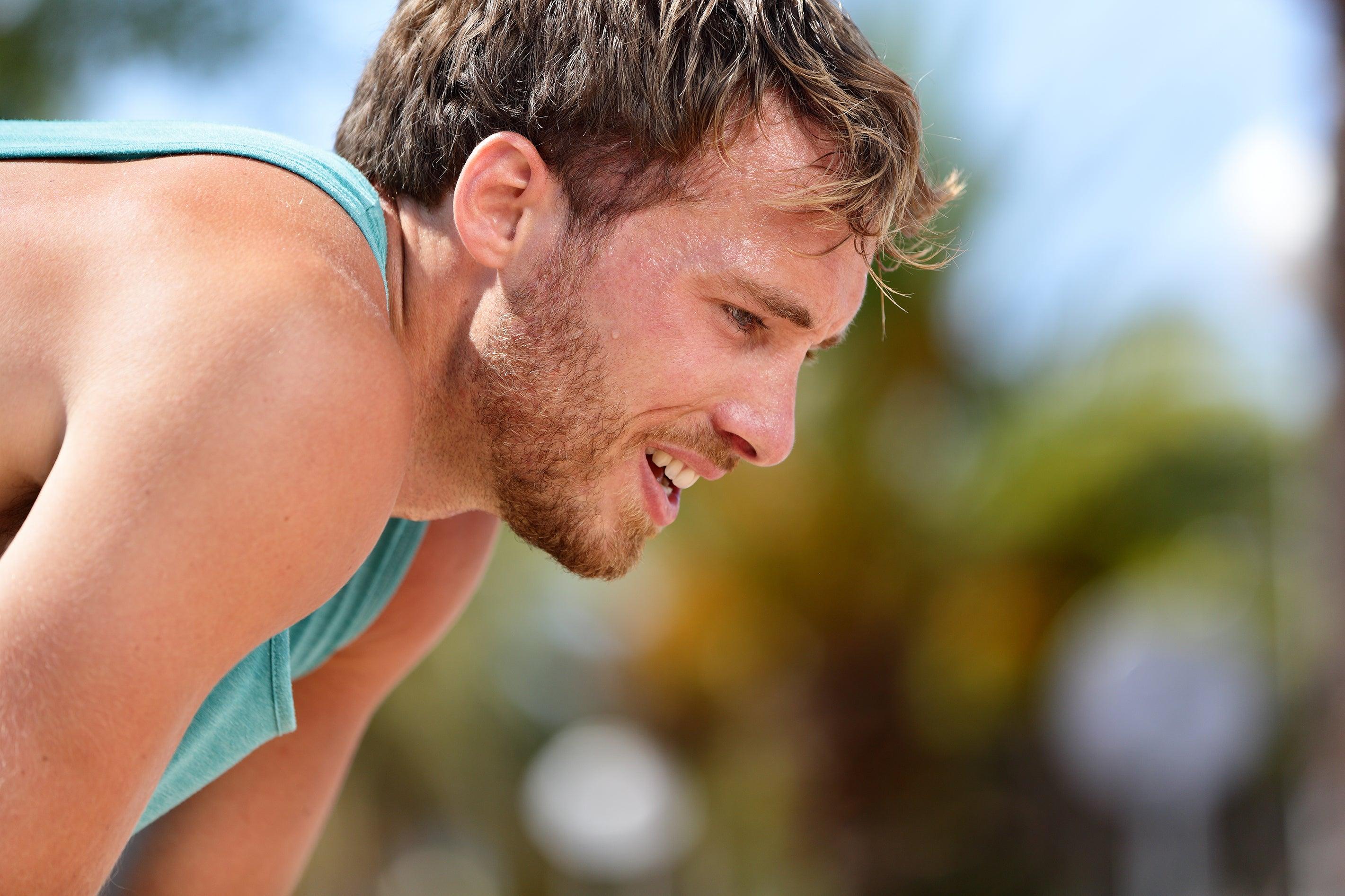 hot, sweaty runner