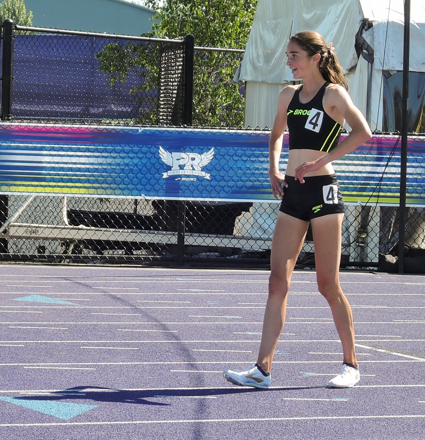 Ericka Vanderlinde after 2 mile Brooks PR