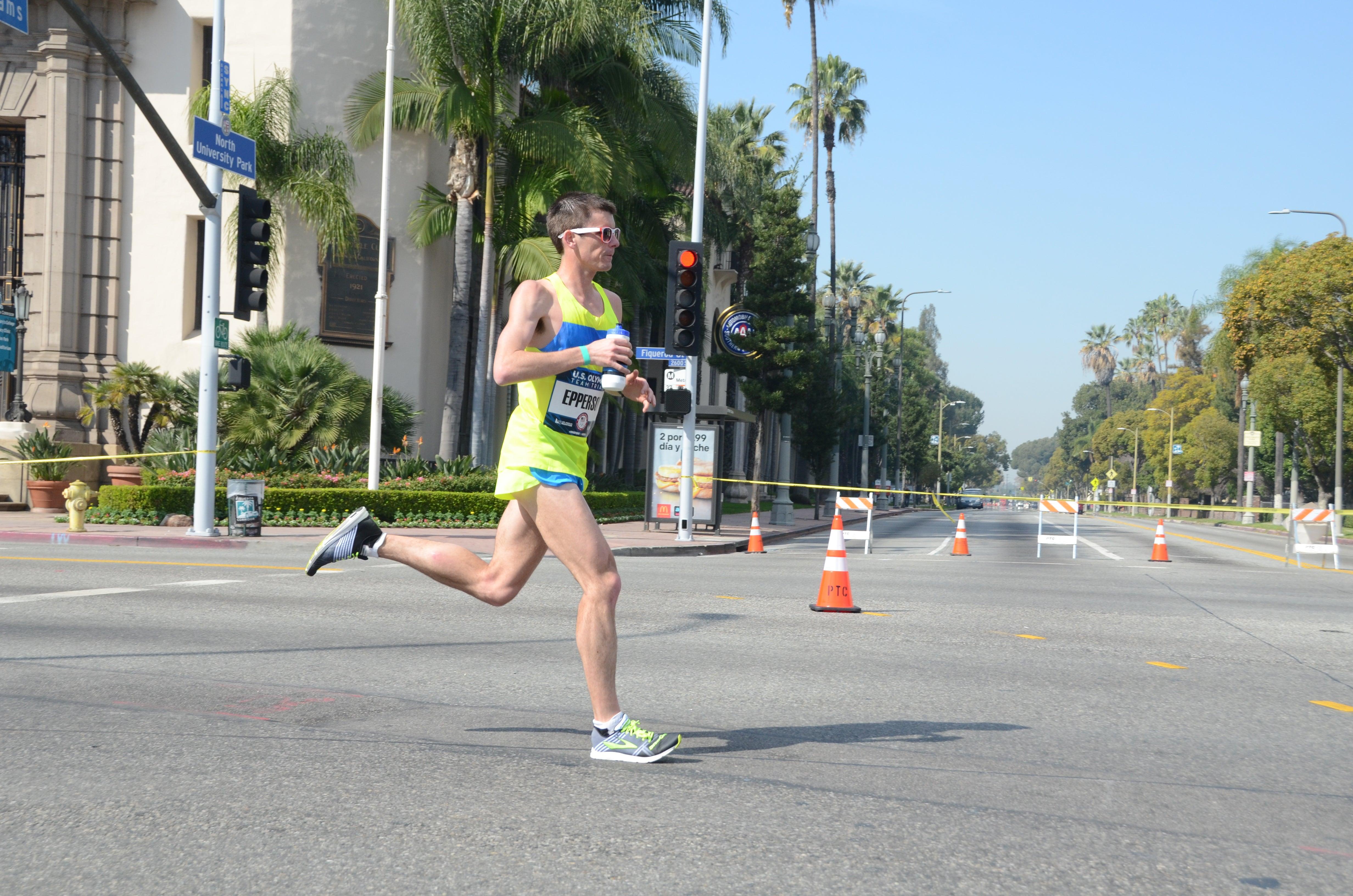 strong male marathoner