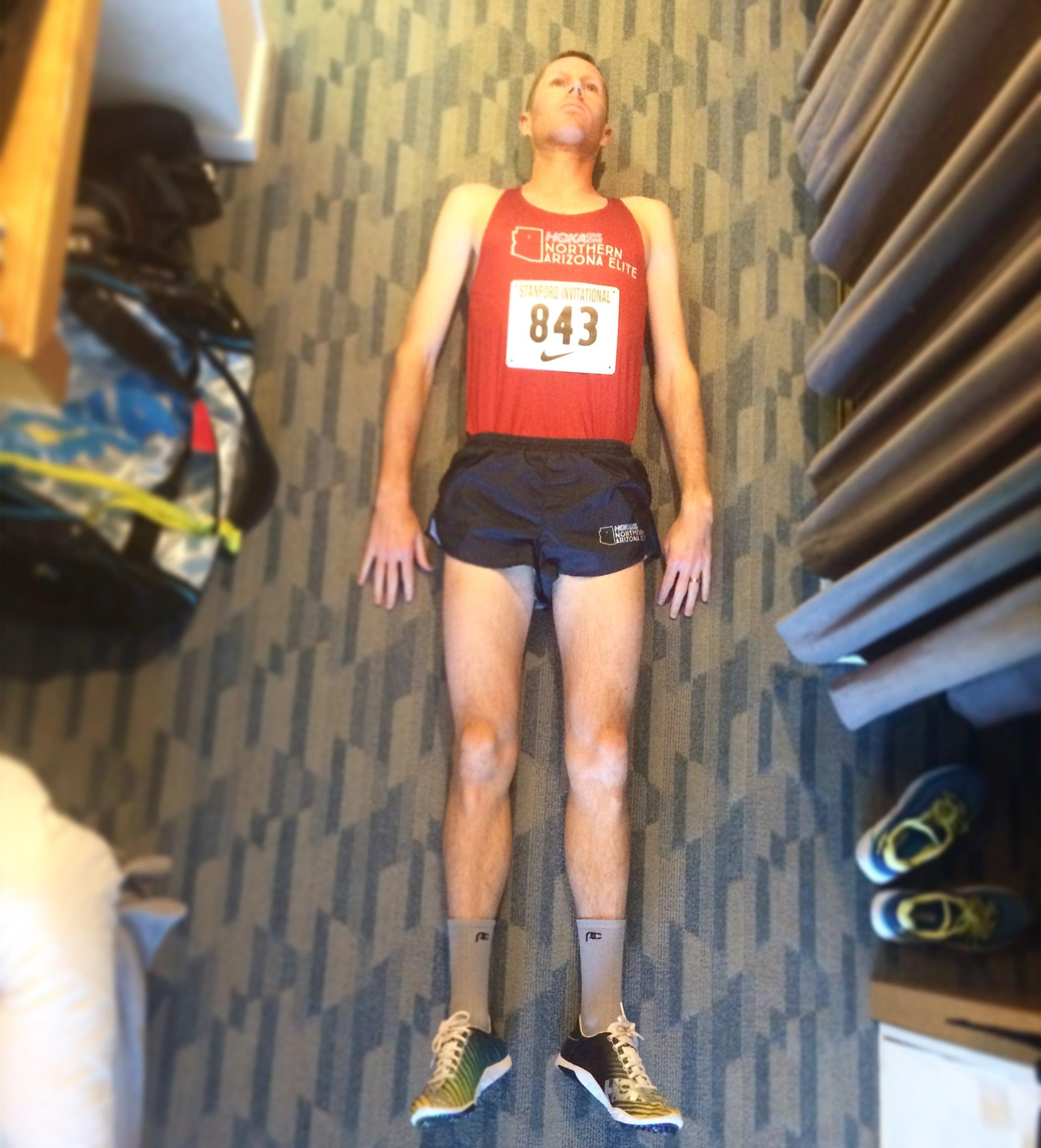 Ben Bruce pre-race ritual