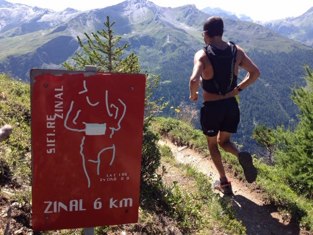 Adam Chase in Switzerland on the Sierre Zinal course