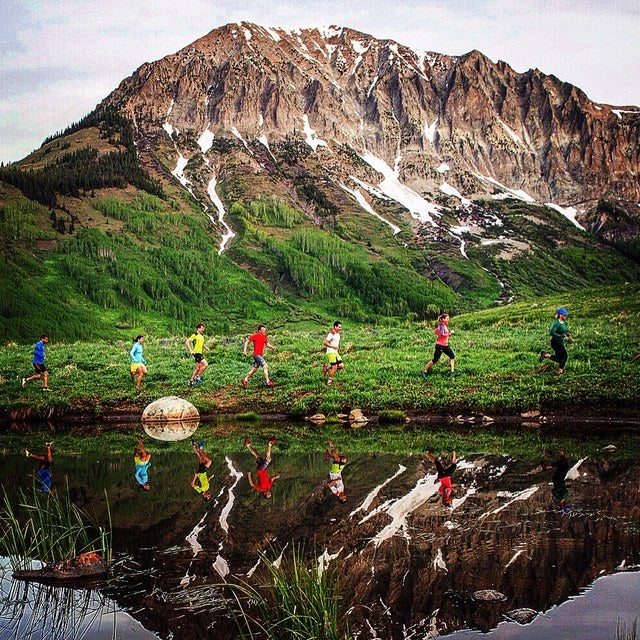 Trail running near Crested Butte, Colorado