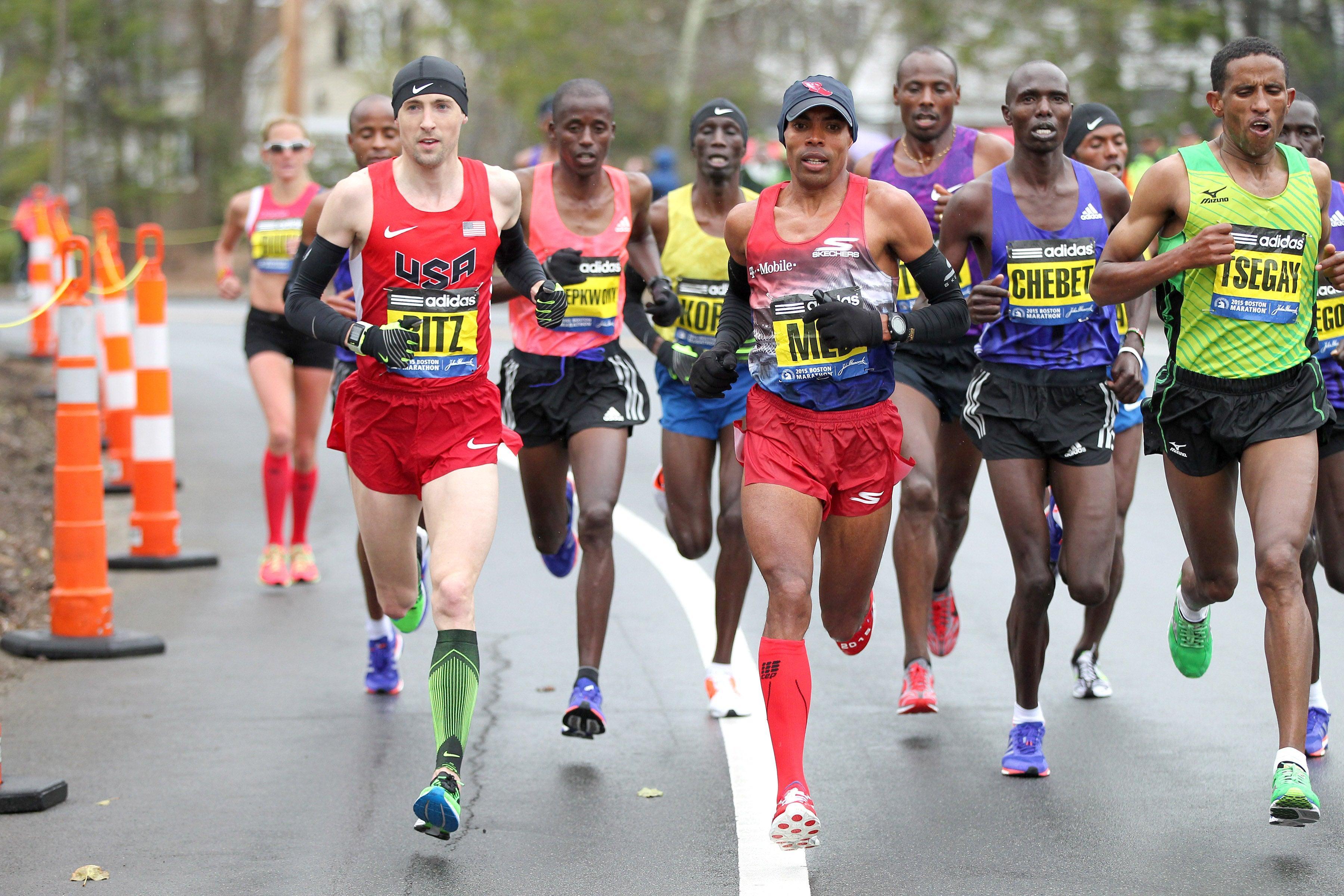 2015 Boston Marathon Ritz, Meb