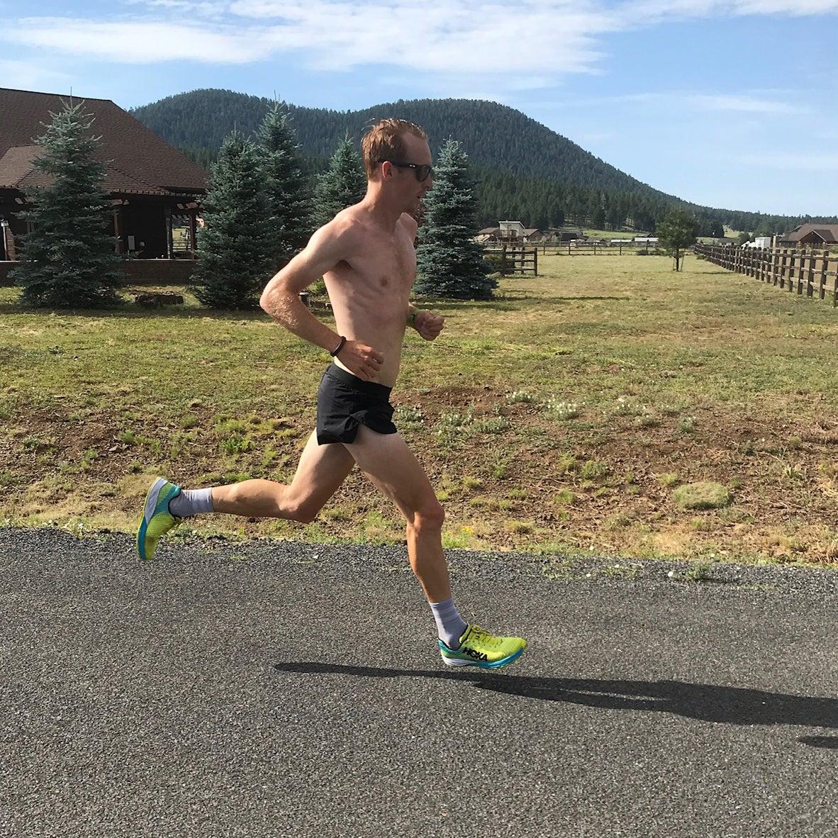Scott Fauble training Flagstaff