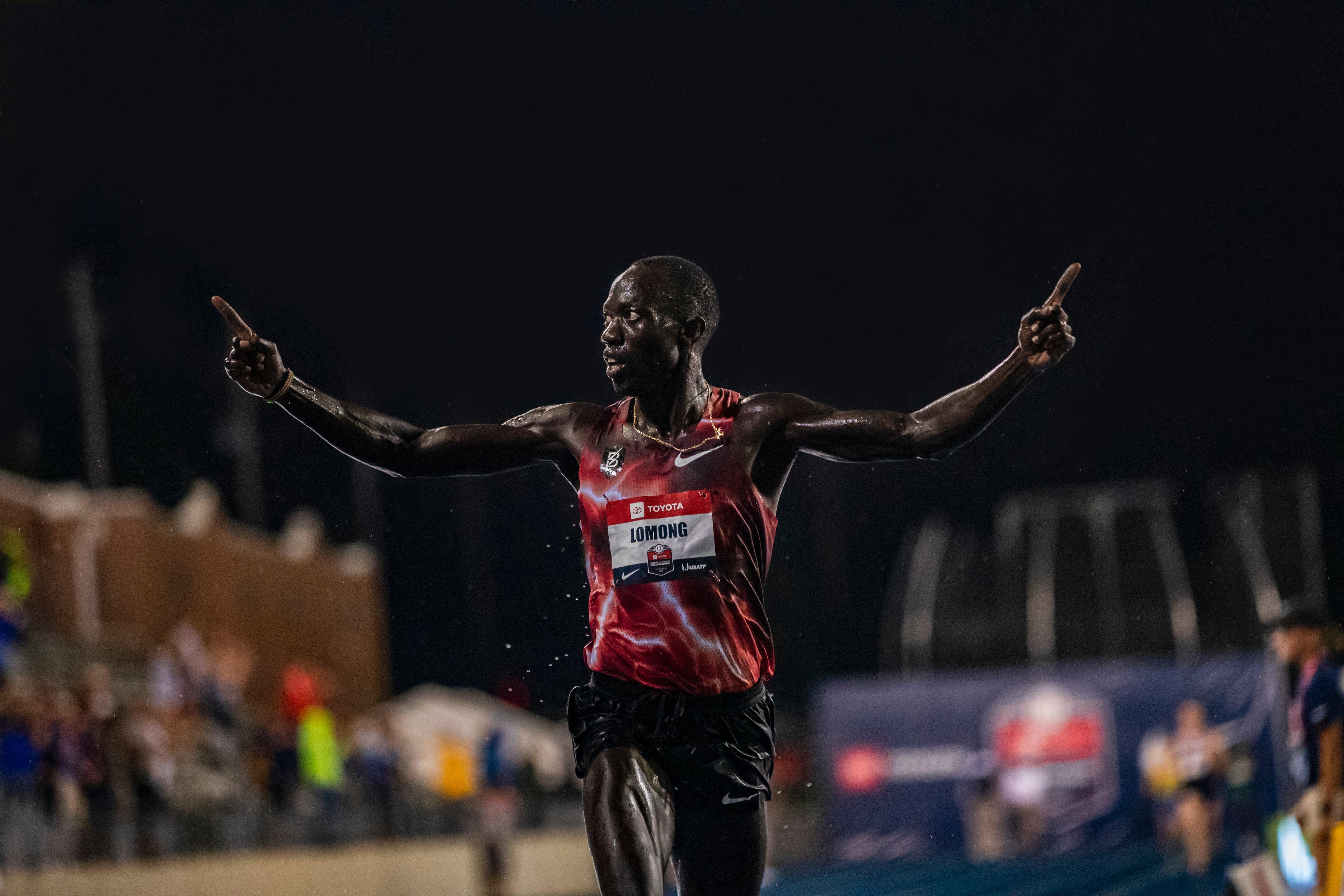Lopez Lomong winning 10,000m at USATF 2019