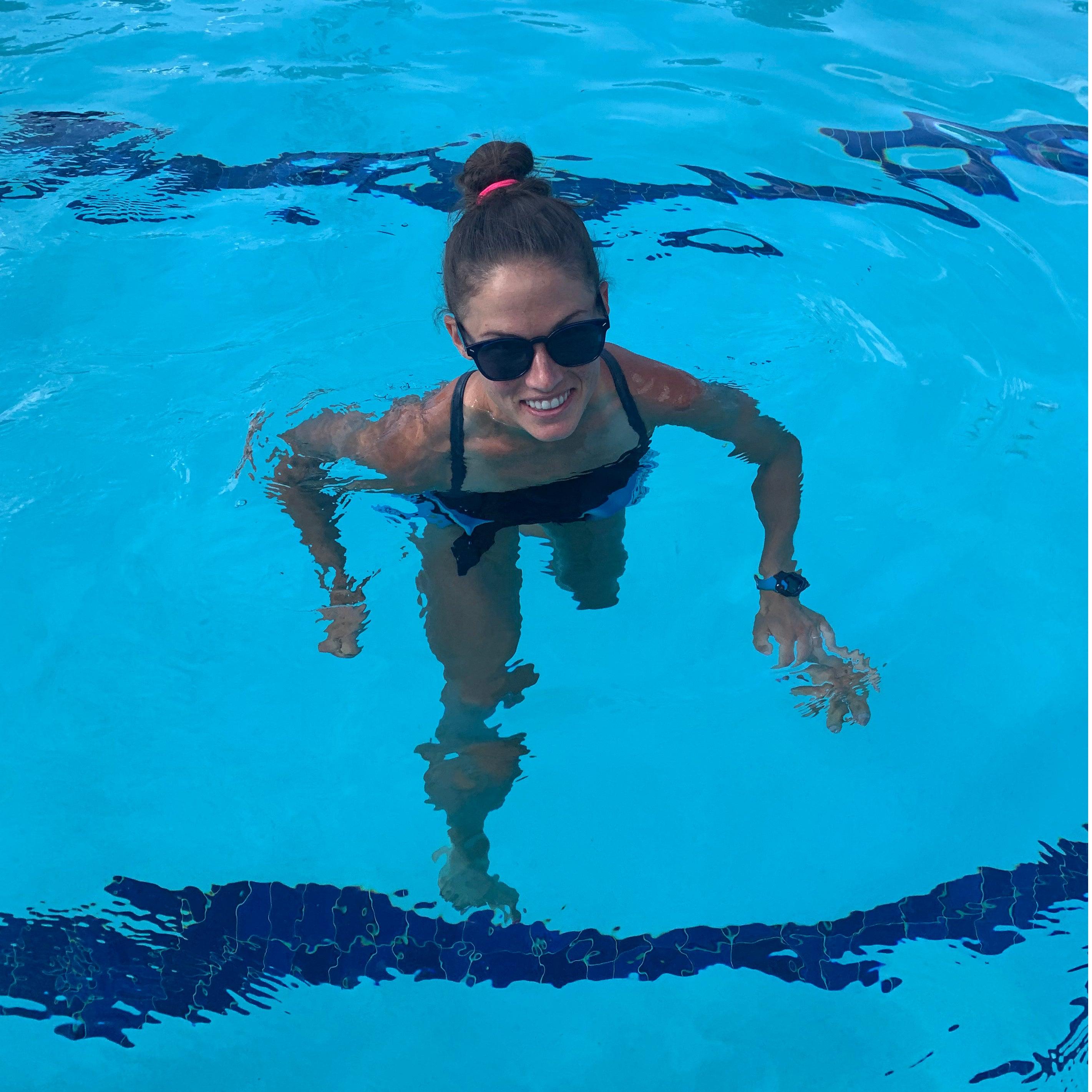 Becky Wade aqua running