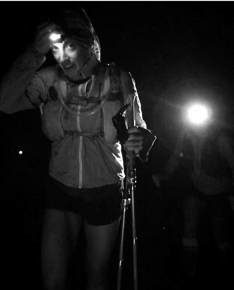 night time start with headlamp on the pacific crest trail going for the female fkt (fastest known time)
