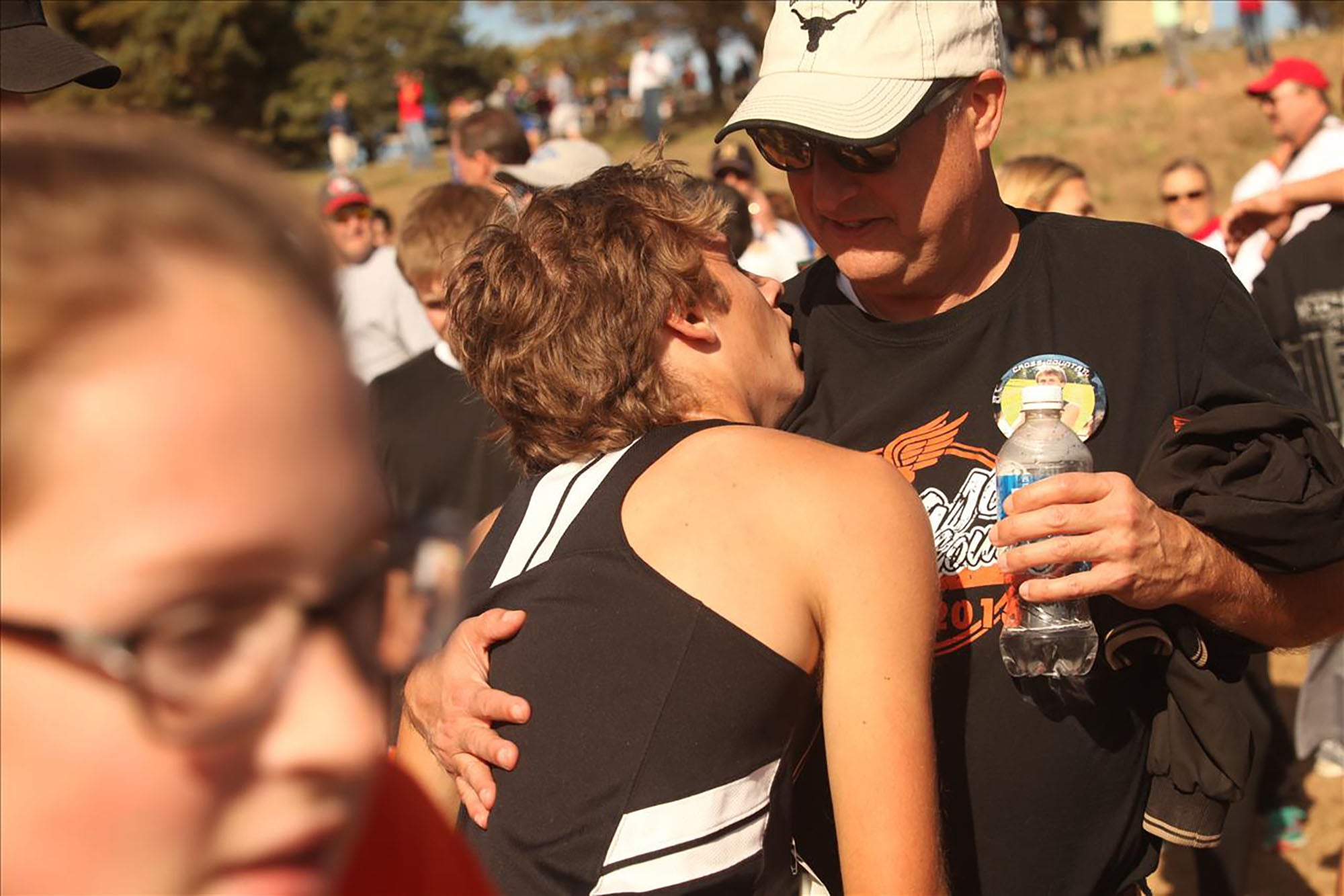 exhausted cross country runner and father