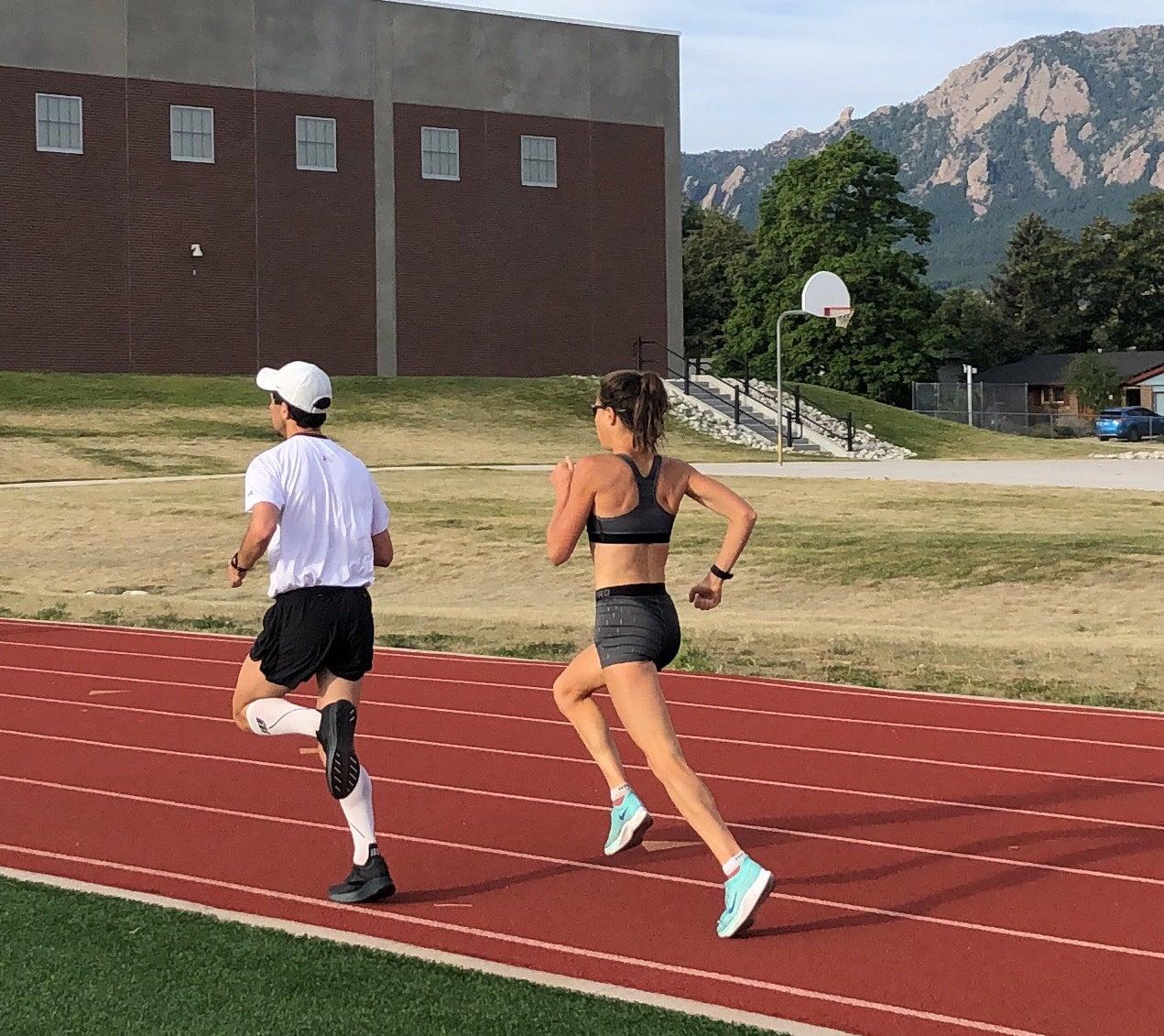 Lindsay Flanagan track workout
