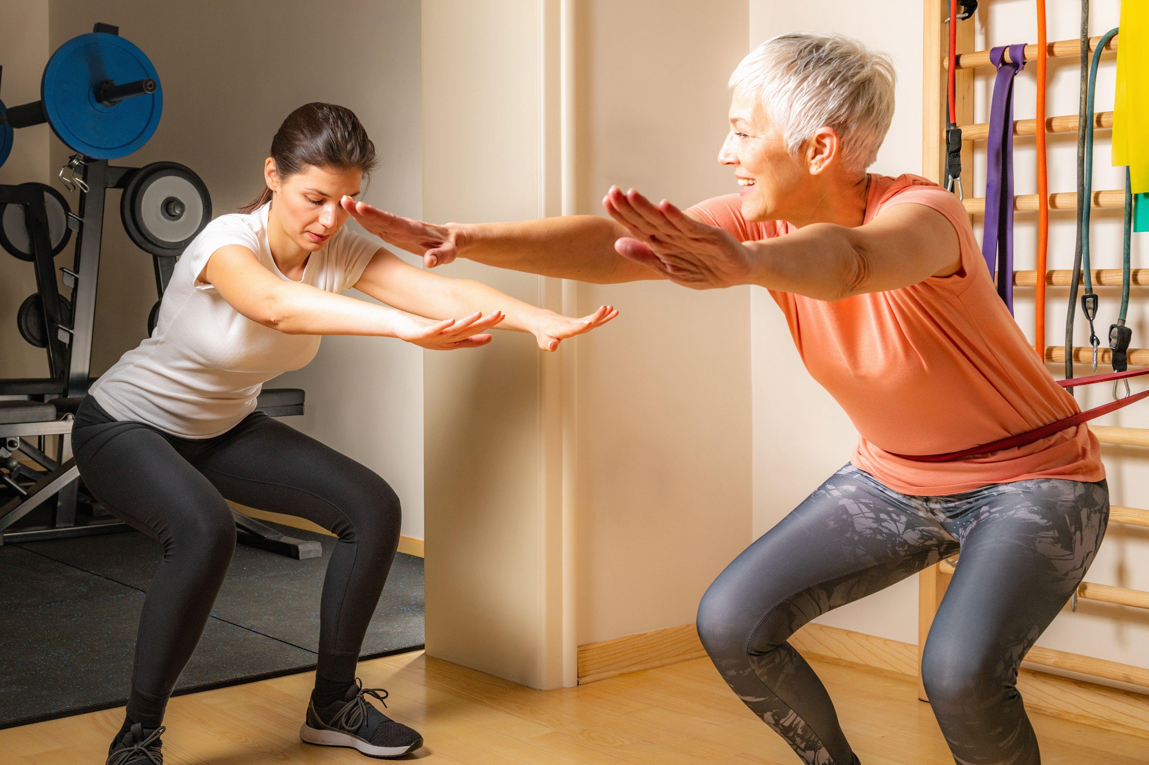 senior squat exercise