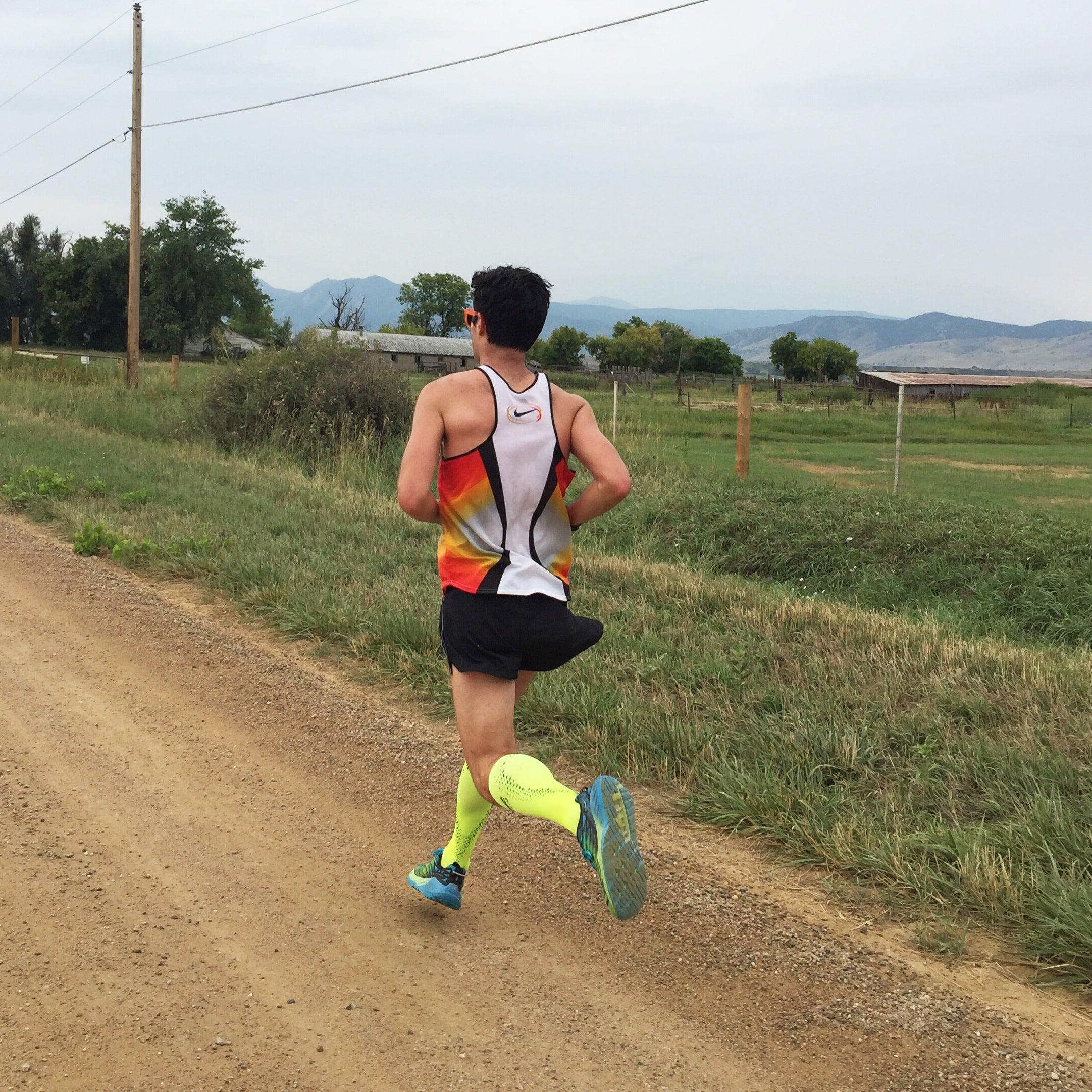 Dan Feeney running Colorado dirt roads