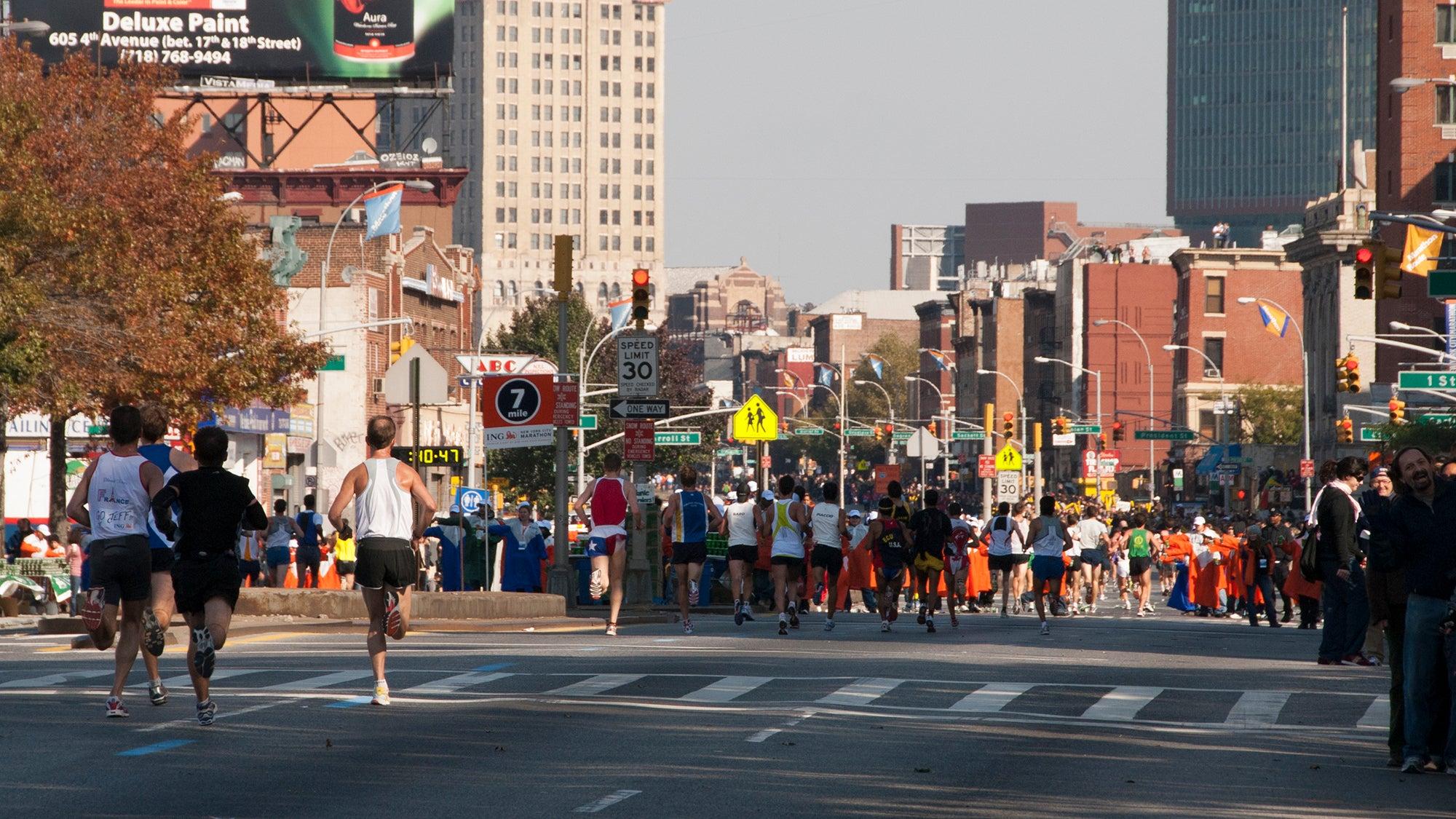 New York City Marathon Mile 7