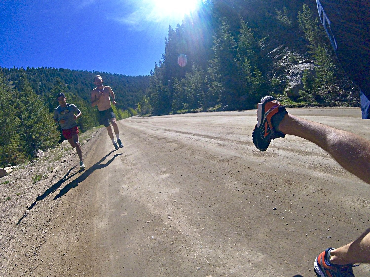 Running in Colorado training for the Olympic Trials qualifying time