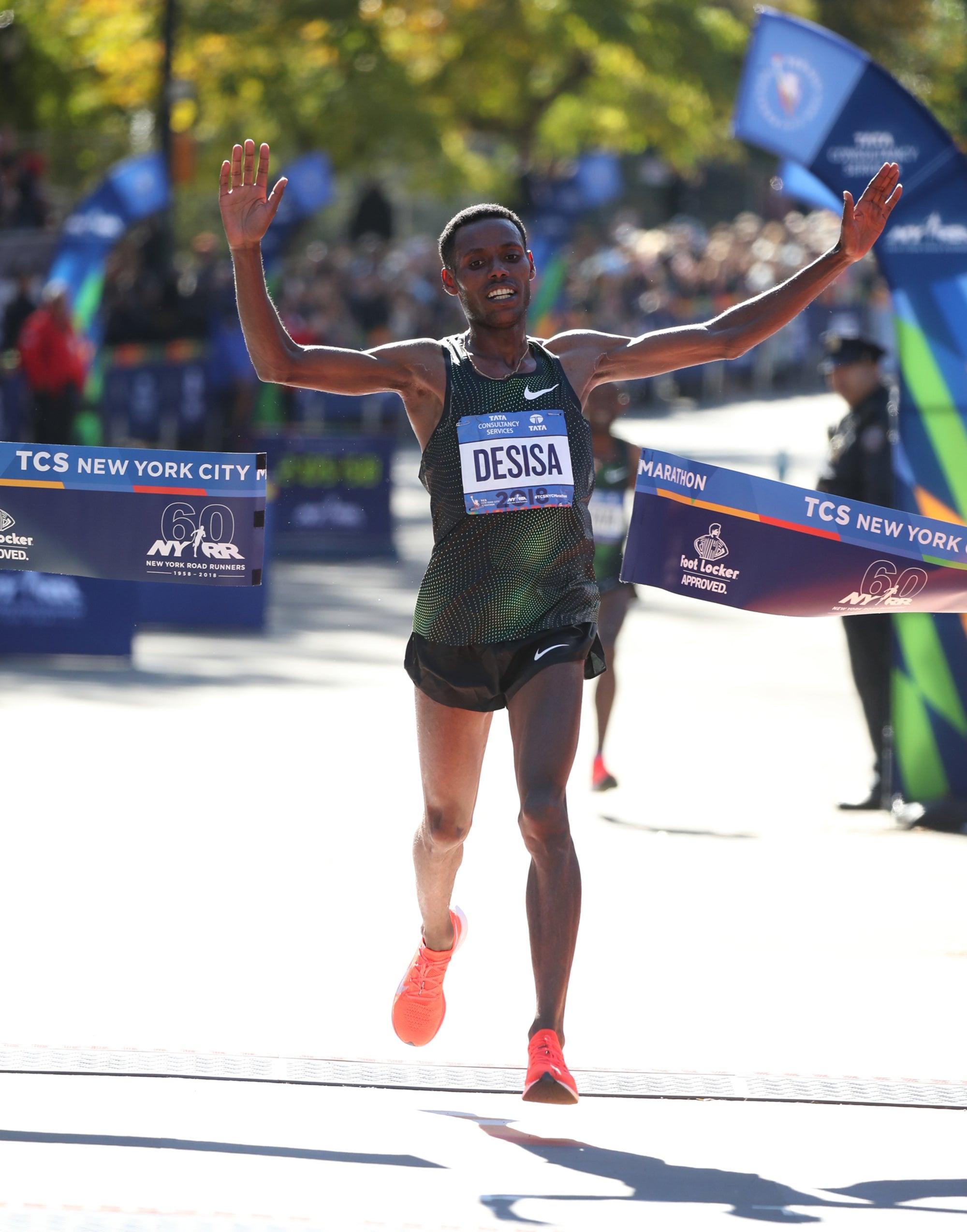 Desisa winning NYCM 2018