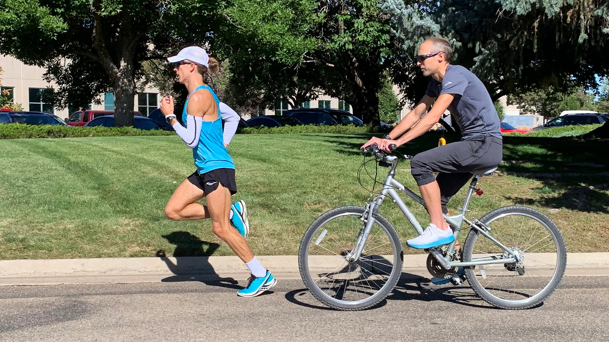 Dathan Ritzenhein and Parker Stinson marathon training
