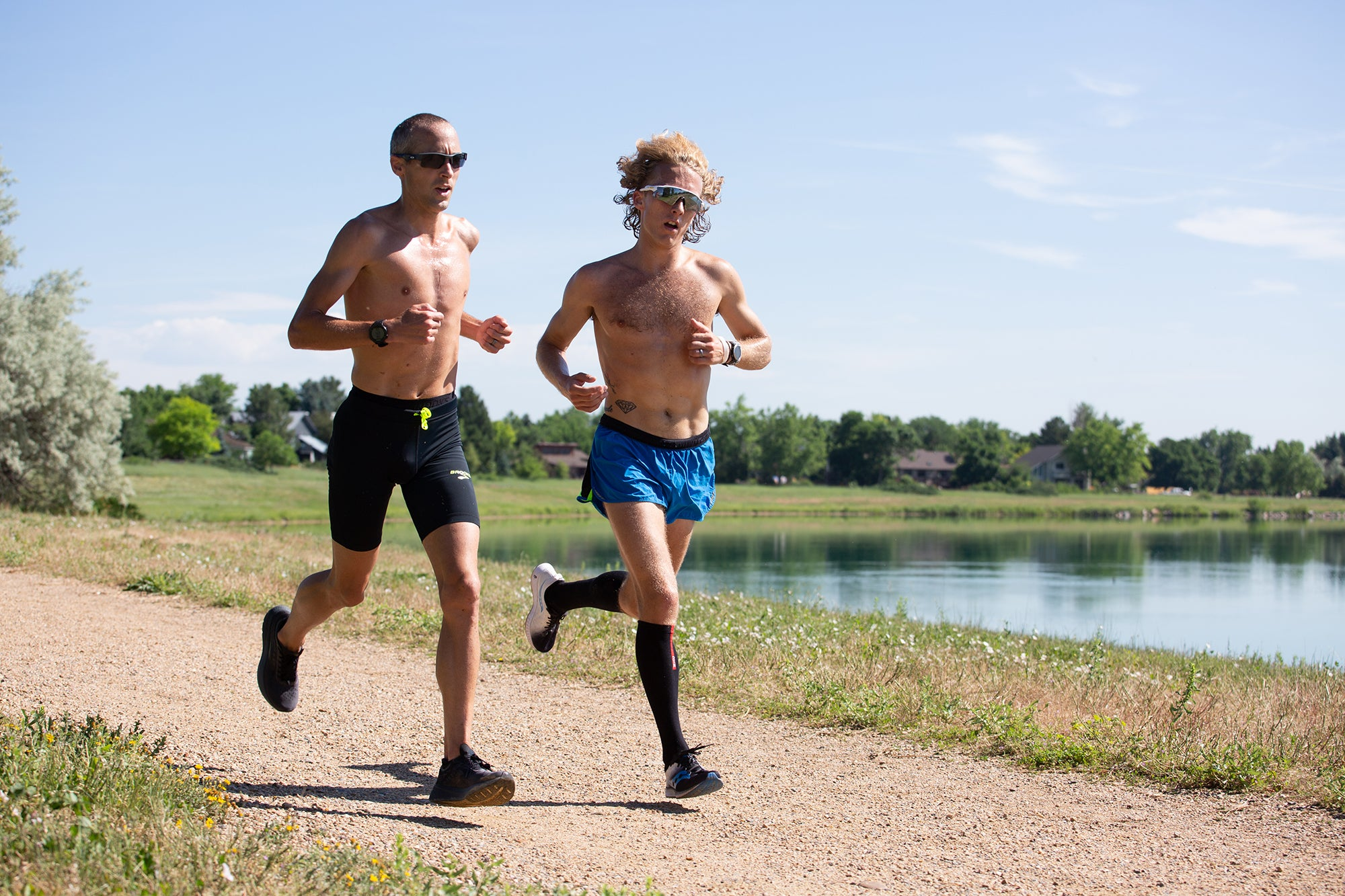 Dathan Ritzenhein and Parker Stinson training together