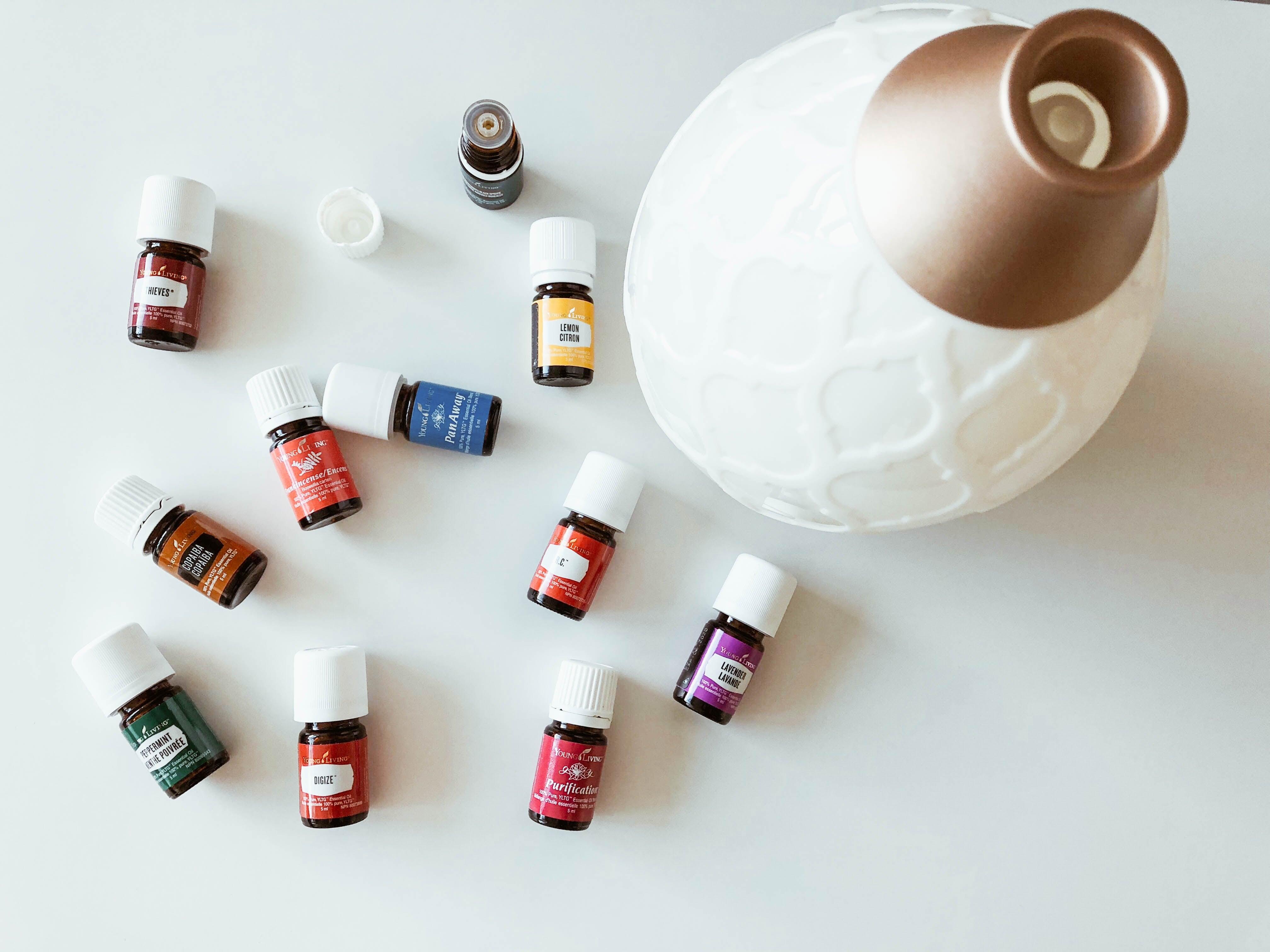 natural medicine remedy--essential oils in a diffuser