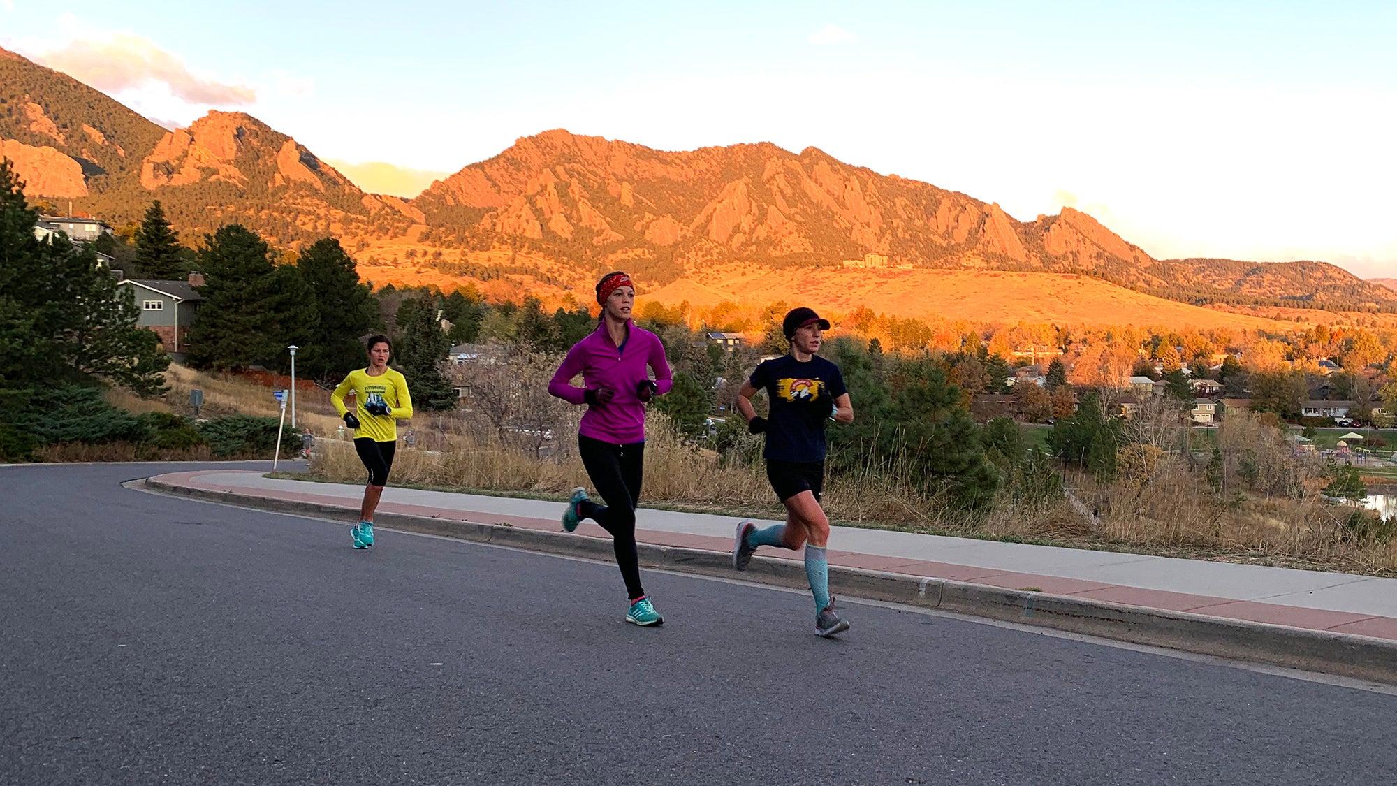 Boulder Track Club hill workout women